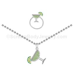 Gemset Margarita Anklet and Toe Ring Set