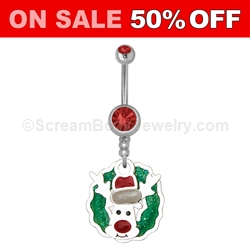 Christmas Navel Dangle