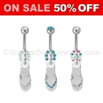 Flip Flop Zipper Pull Navel Dangle