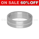 Surgical Steel 6mm Band with Polished Center