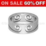 Surgical Steel Ring with Swirl Pattern