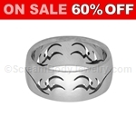 Surgical Steel Ring with Tribal Pattern