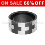 Blackline PVD Steel Ring with Block Pattern