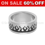 Surgical Steel Ring with Flame