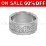 Surgical Steel Ring with Celtic Pattern