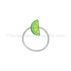 Lime Wedge Toe Ring