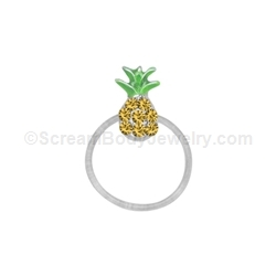 Crystal Pineapple Toe Ring
