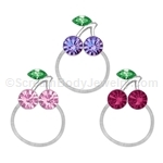 Crystal Cherries Toe Ring