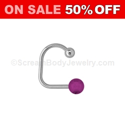 316L Surgical Steel Lippy Loop with Ion Plated Ball