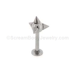 316L Surgical Steel Multi Spike Labret