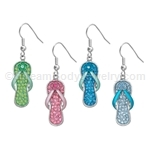 Crystal Flip Flop Earrings