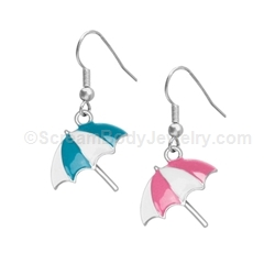 Enamel Umbrella Earrings