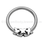 316L Circular Nipple Ring with XXX (14ga 1/2in)