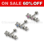 Multi-Crystal Star Cartilage Stud (16ga)