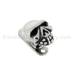 Grade 23 Titanium Dermal Anchor with Steel Casted Skull