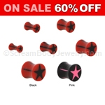 Acrylic Star Saddle Plugs (1 Pair)