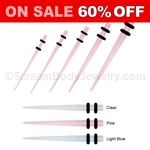 Acrylic Glow In The Dark Tapers (1 Pair)