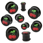 Acrylic Cherries Single Flared Plugs (1 Pair)