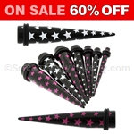 Acrylic Multi Star Tapers (1 Pair)