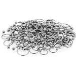 150 Pcs of 14ga 316L Surgical Stainless Steel Mixed Size Horseshoe Circular Barbells