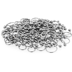 150 Pcs of 16ga 316L Surgical Stainless Steel Mixed Size Horseshoe Circular Barbells