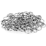 150 Pcs of 14ga 316L Surgical Stainless Steel Mixed Size Captive Bead Rings