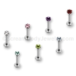 Internally Threaded 316L Surgical Steel Labret with 3mm Star Top