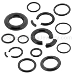 Blackline Surgical Steel Segment Ring (1 Pair)