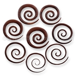 Hand Carved Sono Wood Super Spiral Taper - 2.5 Inch Diameter (1 Pair)
