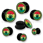 Acrylic Pot Leaf Stash Plug (1 Pair)