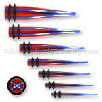 Acrylic Confederate Flag Taper (1 Pair)