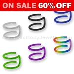 Titanium Anodized Steel Double Hoop Cartilage Clip