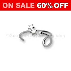 Sterling Silver Star Ear Clip