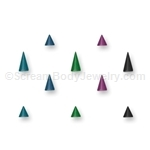 10 Pack of Titanium Anodized Cones