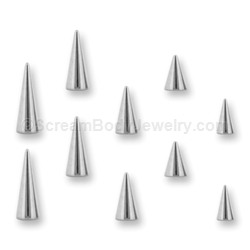 10 Pack of 316L Surgical Steel Spikes