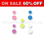 10 Pack of Glow in the Dark Acrylic Balls