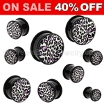 Acrylic Leopard Print Single Flared Plugs (1 Pair)
