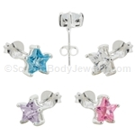 Sterling Silver Stud Earrings with Star