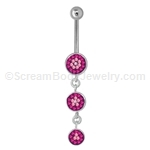 CZ Navel Dangle